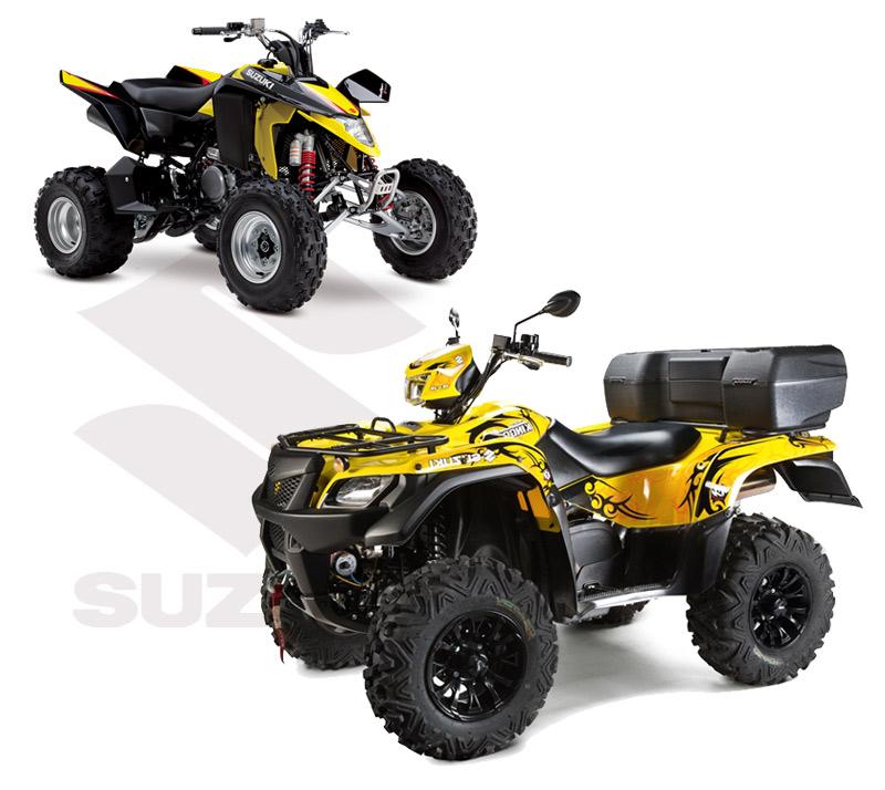Suzuki-400LTZ-et-Kingquad750